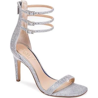 バッジェリー ミシュカ Jewel Badgley Mischka レディース サンダル・ミュール シューズ・靴 Regina Ornamented Sandal Silver