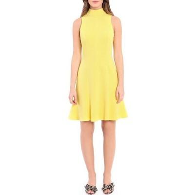 ドナモーガン レディース ワンピース トップス Mock Neck Sleeveless Stretch Crepe A-Line Dress
