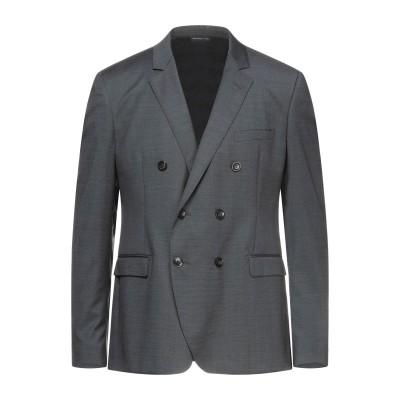 トネッロ TONELLO テーラードジャケット スチールグレー 52 バージンウール 100% テーラードジャケット