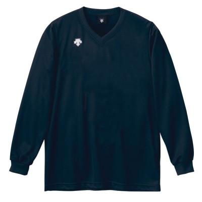 デサント DESCENTE  V首長袖ゲームシャツ ユニセックス  DSS−4311 DSS4311 ネイビー