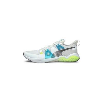 プーマ メンズ スポーツ用品 CELL FRACTION FADE - Neutral running shoes - white-scuba blue-yellow