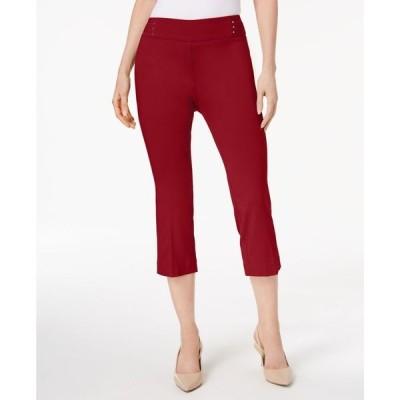 ジェイエムコレクション レディース カジュアルパンツ ボトムス Embellished Pull-On Capri Pants