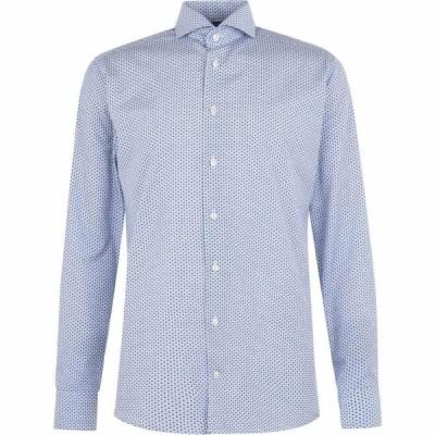 イートン Eton メンズ シャツ トップス cotton fan floral shirt Blue