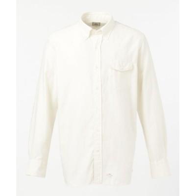 J.PRESS/ジェイプレス ソリッドヤーン サテンネル パチフラシャツ / ボタンダウン ホワイト系 XL