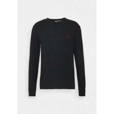 グラミチ カットソー メンズ トップス ONE POINT - Long sleeved top - black