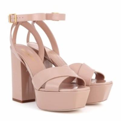 イヴ サンローラン Saint Laurent レディース サンダル・ミュール シューズ・靴 Farrah 80 leather plateau sandals Nude