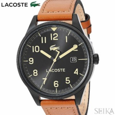 【レビューを書いて5年保証】  ラコステ LACOSTE 2011021(218)時計 腕時計 メンズ ブラック ブラウン レザー ギフト 父の日