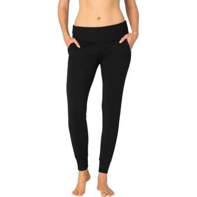 ビヨンドヨガ Beyond Yoga レディース スウェット・ジャージ ボトムス・パンツ Foldover Long Sweatpant Black