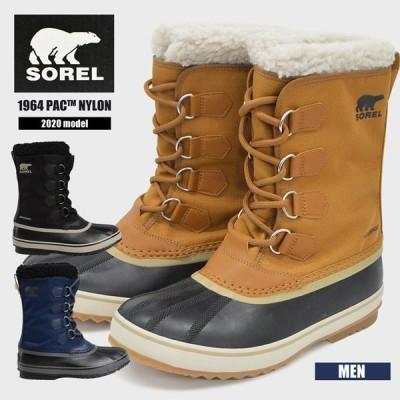 ソレル ブーツ メンズ 防水加工 SOREL 1964 PAC NYLON NM3487 パックナイロン 防寒 防滑 スノーブーツ 軽量 カジュアル 雪 靴 紳士 ウィンターブーツ