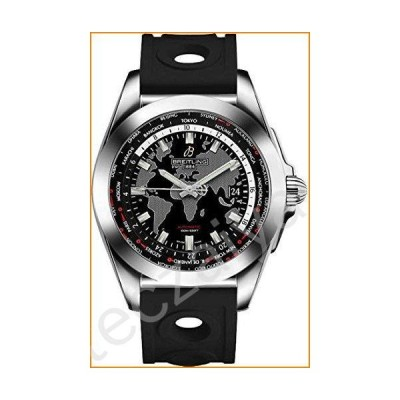 Breitling Galactic Unitime 44 mm Men's Watch on Diver Pro III Black Rubber Strap並行輸入品