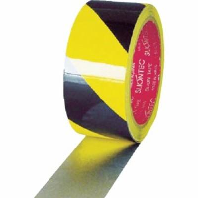 スリオン 危険表示用反射テープ 45mm×10m黄/黒 (1巻) 品番:965201-00-45X10