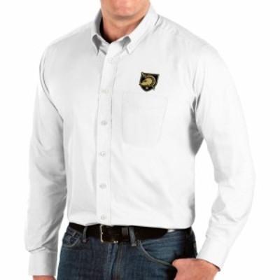 アンティグア Antigua メンズ シャツ トップス Army West Point Black Knights Dynasty Long Sleeve Button-Down White Shirt