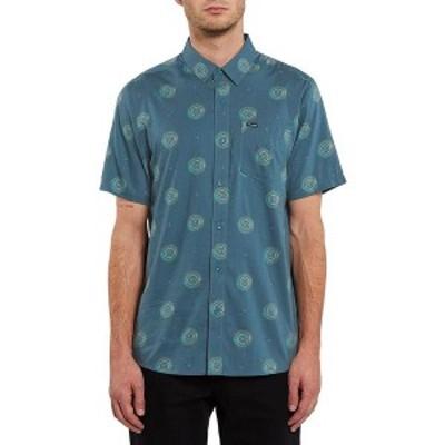 ボルコム メンズ シャツ トップス Inner Valley Short-Sleeve Shirt Rincon Blue