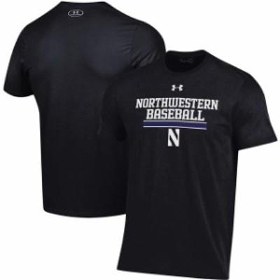 Under Armour アンダー アーマー スポーツ用品  Under Armour Northwestern Wildcats Black Baseball Drop Performance T-Shirt