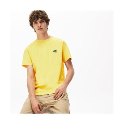 (LACOSTE Mens/ラコステ メンズ)レギュラーフィット バッジロゴクルーネックTシャツ/メンズ イエロー