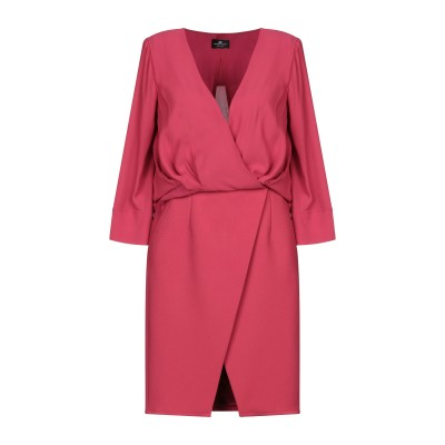 ELISABETTA FRANCHI ミニワンピース&ドレス ガーネット 40 レーヨン 100% / ポリエステル / ポリウレタン ミニワンピー