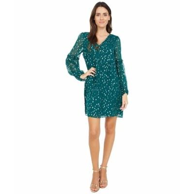 リリーピュリッツァー ワンピース トップス レディース Cleme Silk Dress Spruce Green Gold Metallic Silk Clip