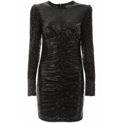 MICHAEL KORS/マイケルコース ドレス BLACK Michael michael kors draped sequins dress レディース 春夏2020 MH98ZCKD2L ik