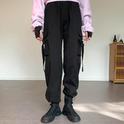 binary01 レディース パンツ String rubber cargo pants