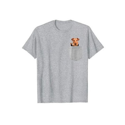 Dog in Your Pocket airedale Tシャツ