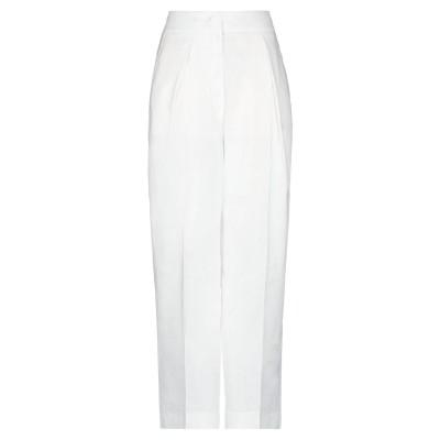 テーラ TELA パンツ ホワイト 42 リネン 56% / レーヨン 28% / コットン 15% / ポリウレタン 1% パンツ