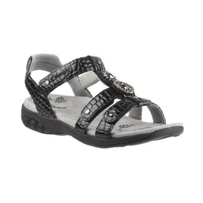 ザラフィット サンダル シューズ レディース Shoe Charlotte Embossed Jeweled Adjustable Sandal Black
