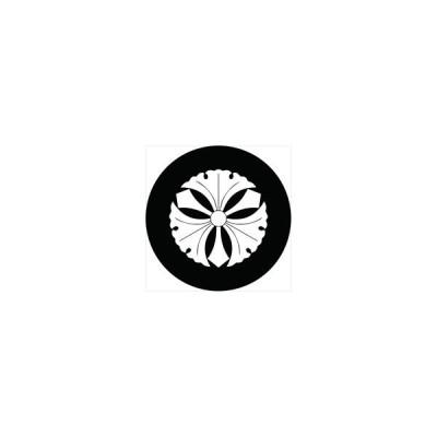 家紋シール 徳川家康 剣銀杏 直径4cm 丸型 白紋 4枚セット KS44M-3214-01W