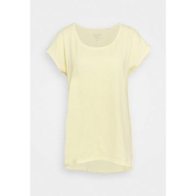 イー ディ シー バイ エスプリ Tシャツ レディース トップス SLUB - Basic T-shirt - light yellow