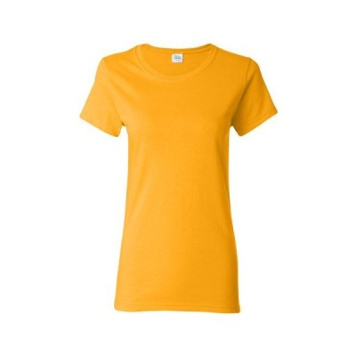 Gildan G500L ヘビーコットン レディース 5.3オンス ミッシーフィットTシャツ US サイズ: Large カラー: ゴールド