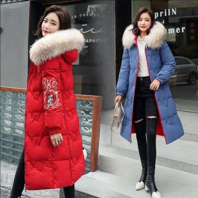 暖かい カジュアル ファッション フォーマル ダウンコート ダウンジャケット 女性 中綿 ロング丈 アウター 防寒 軽量 防風 キレイめ  通勤 OL オフィス 学生