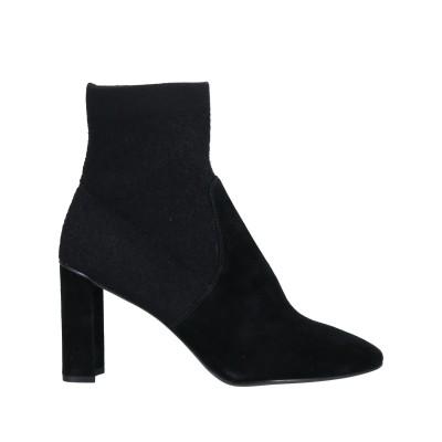 WHAT FOR ショートブーツ ブラック 41 山羊革 / 紡績繊維 ショートブーツ