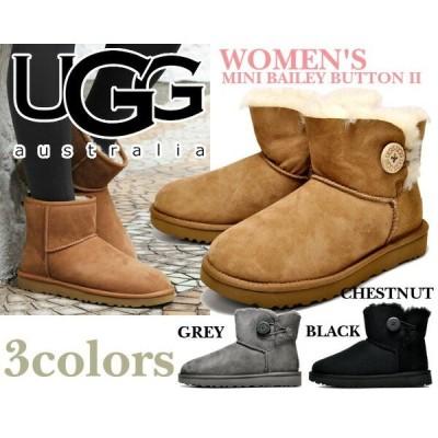 アグ ブーツ レディース UGG ムートンブーツ ミニ ベイリーボタン UGG WOMEN'S MINI BAILEY BUTTON II UGG アグブーツ ウィメンズ 3COLOR 婦人靴