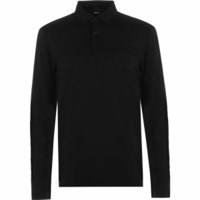 ヒューゴ ボス BOSS メンズ ポロシャツ トップス Long Sleeve Polo Shirt Black