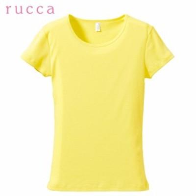 Tシャツ レディース 半袖 CVCフライスTシャツ  【2枚までゆうパケットOK】 rucca ルッカ 全11色 6.2オンス