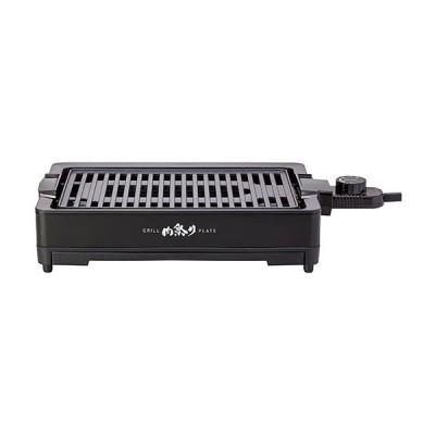 アピックス 減煙グリルプレート  ブラック AGP230BK