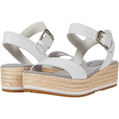 ティンバーランド Timberland レディース サンダル・ミュール アンクルストラップ シューズ・靴 Santorini Sun Ankle Strap Sandal White Full Grain