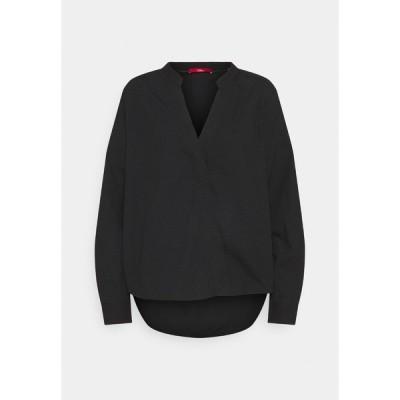 エスオリバー シャツ レディース トップス LANGARM - Long sleeved top - black