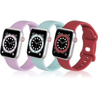 MNBVCXZコンパチブル apple watch バンド, スポーツ シリコンバンド通気性 アップルウォッチ ベルトコンパチブル iwatch SE