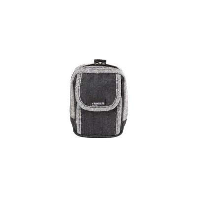 TRUSCO/トラスコ中山  デニム携帯電話用ケース 2ポケット ブラック TDC-H102