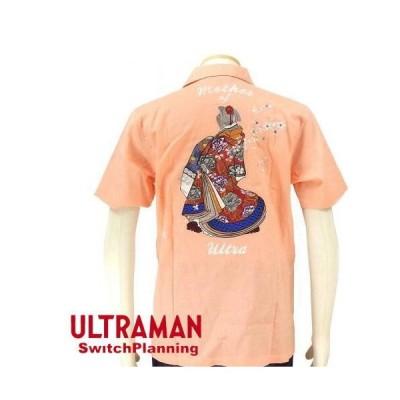 TEN STRIKE ウルトラの母 刺繍半袖シャツ  ウルトラマン×スイッチプランニング