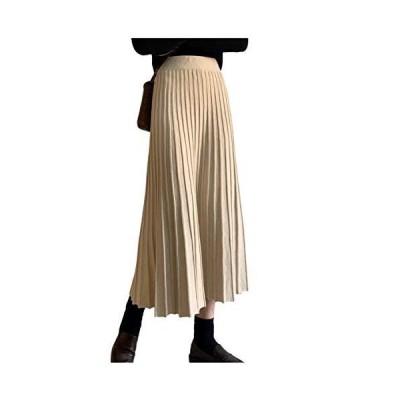 [シオン] プリーツスカート 暖かい ロング丈 ミニ丈 コットン生地 ひざ丈 ルームウェア 薄手 快適通気 インナーキャミソール 体型カバー タンクト