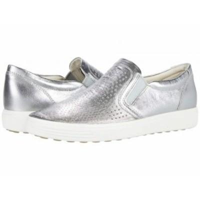 ECCO エコー レディース 女性用 シューズ 靴 スニーカー 運動靴 Soft 7 Perforated Slip-On Alusilver【送料無料】