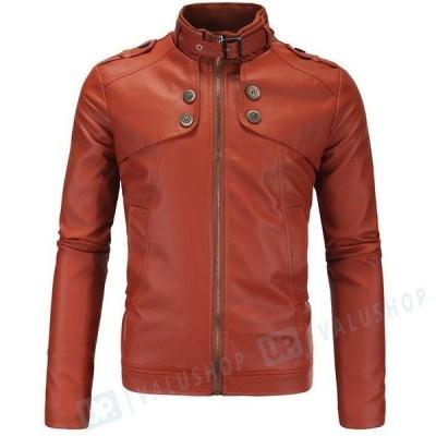 メンズ レザージャケット フェイクレザー ジャケット ライダースジャケット 皮ジャン 革ジャン メンズ 皮革ジャケット ミリタリージャケット