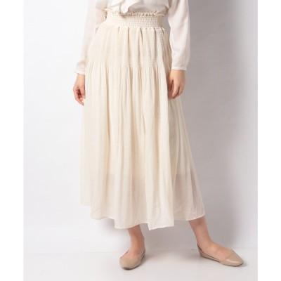 Te chichi 【Lugnoncure】マジョリカプリーツマキシスカート(オフ)【返品不可商品】