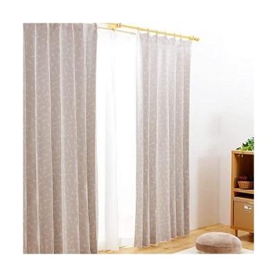 【全240種から選べるカーテン】-ドレープ2枚・レース2枚-UVカット-外から見えにくい-幅100cm×丈120cm