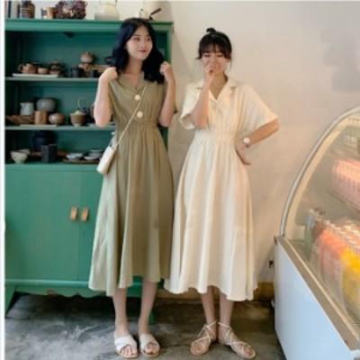 韓国 ファッション レディース 大きいサイズ シャツワンピース ロングワンピース ワンピース ロング丈 マキシワンピース ワンピース 大き