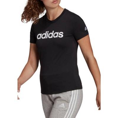 アディダス レディース Tシャツ トップス Essential Slim Logo T-Shirt