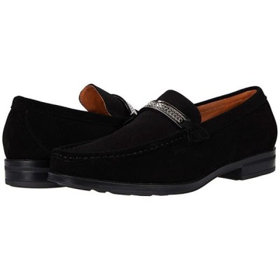 Reginald Suede Slip-On Loafer Black