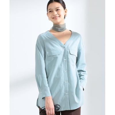【ビームス ウィメン】 Ray BEAMS / ダブル ポケット Vネックシャツ レディース MINT ONESIZE BEAMS WOMEN