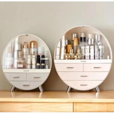 大容量 化粧品収納ケース 透明 化粧品収納ケース防塵パック化粧品整理アクリル素材ドレッサー口紅香水置物棚